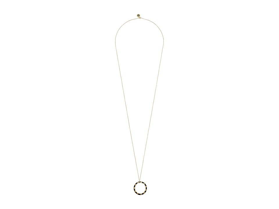 House of Harlow 1960 - Spectrum Pendant Necklace (Gold/Black) Necklace
