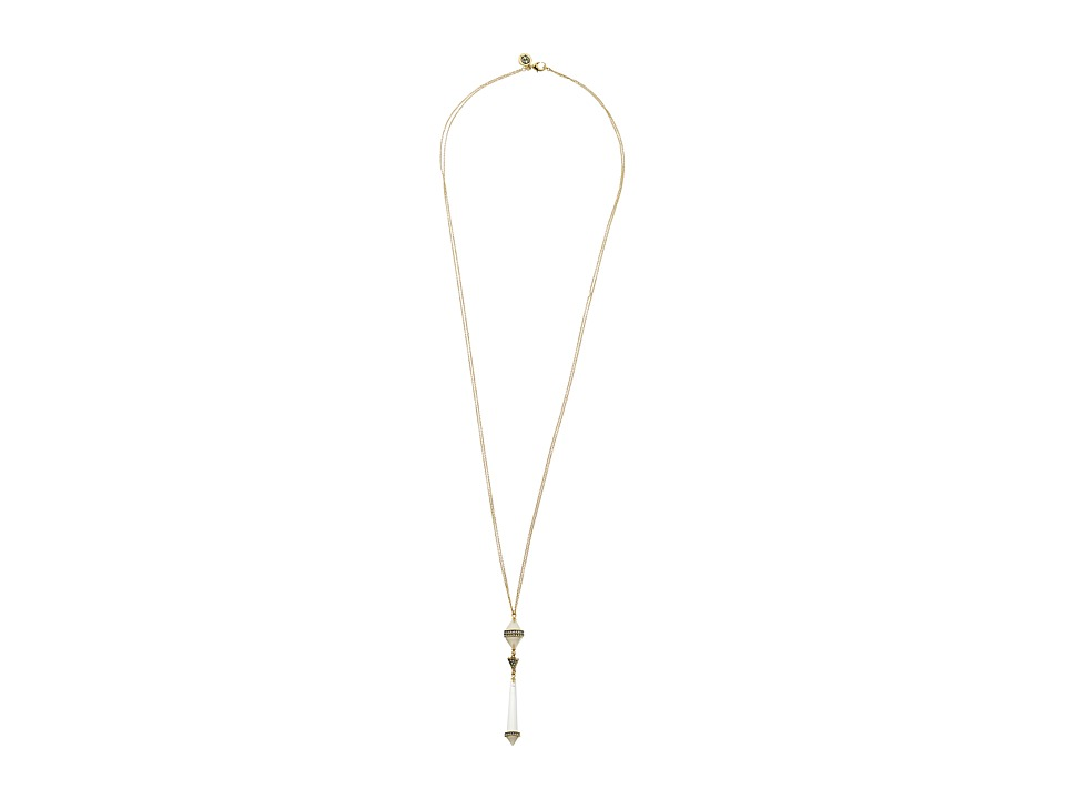 House of Harlow 1960 - Corona Crystal Pendant Necklace (Gold) Necklace