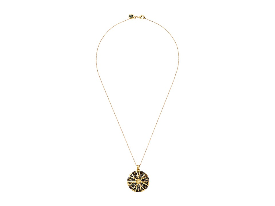 House of Harlow 1960 - Ornamental Medallion Pendant Necklace (Gold) Necklace