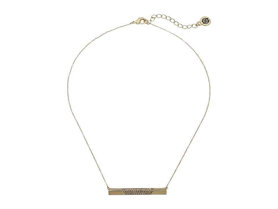 House of Harlow 1960 - Modern Revival Bar Necklace (Gold 1) Necklace