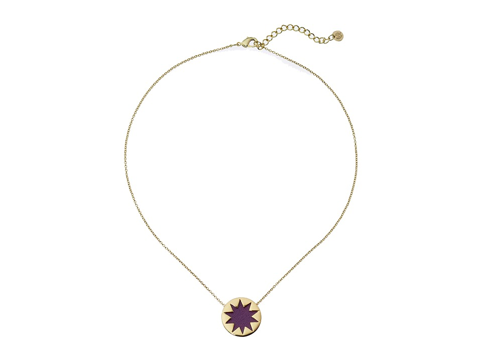 House of Harlow 1960 - Mini Sunburst Pendant Necklace (Violet) Necklace