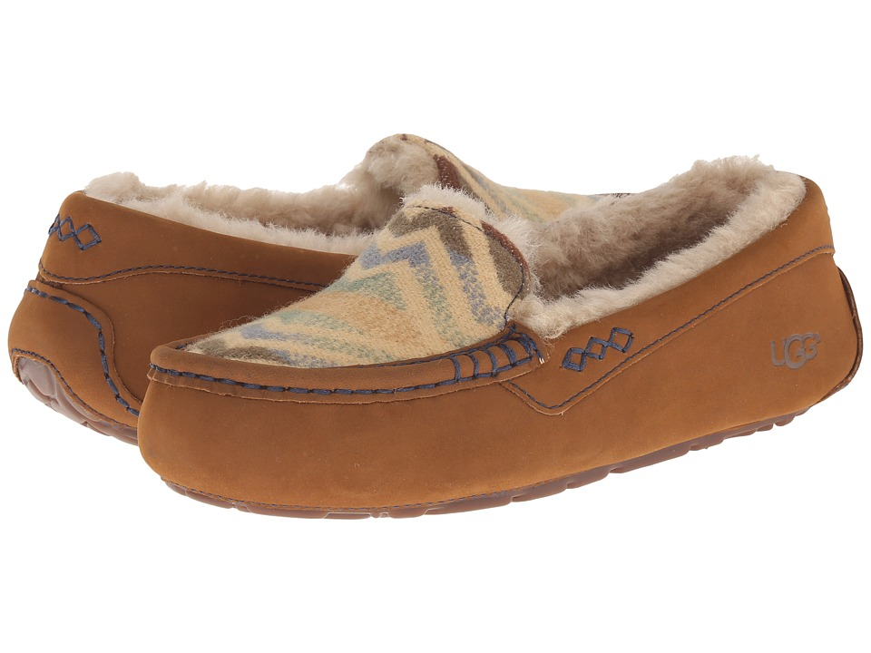 UGG - Ansley Pendleton (Chestnut) Women's Slip on Shoes