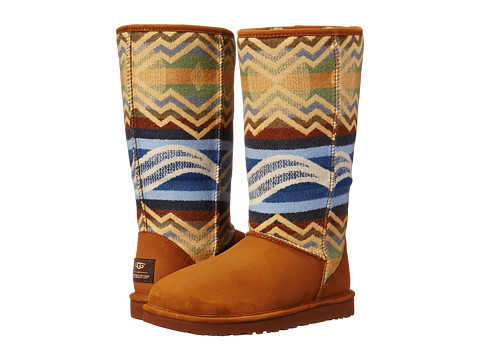 UGG - Classic Tall Pendleton (Chestnut) Women's Pull-on Boots