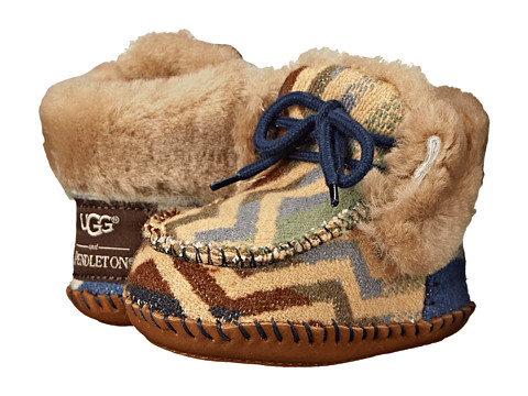 UGG Kids - Sparrow Pendleton (Infant/Toddler) (Chestnut) Girls Shoes