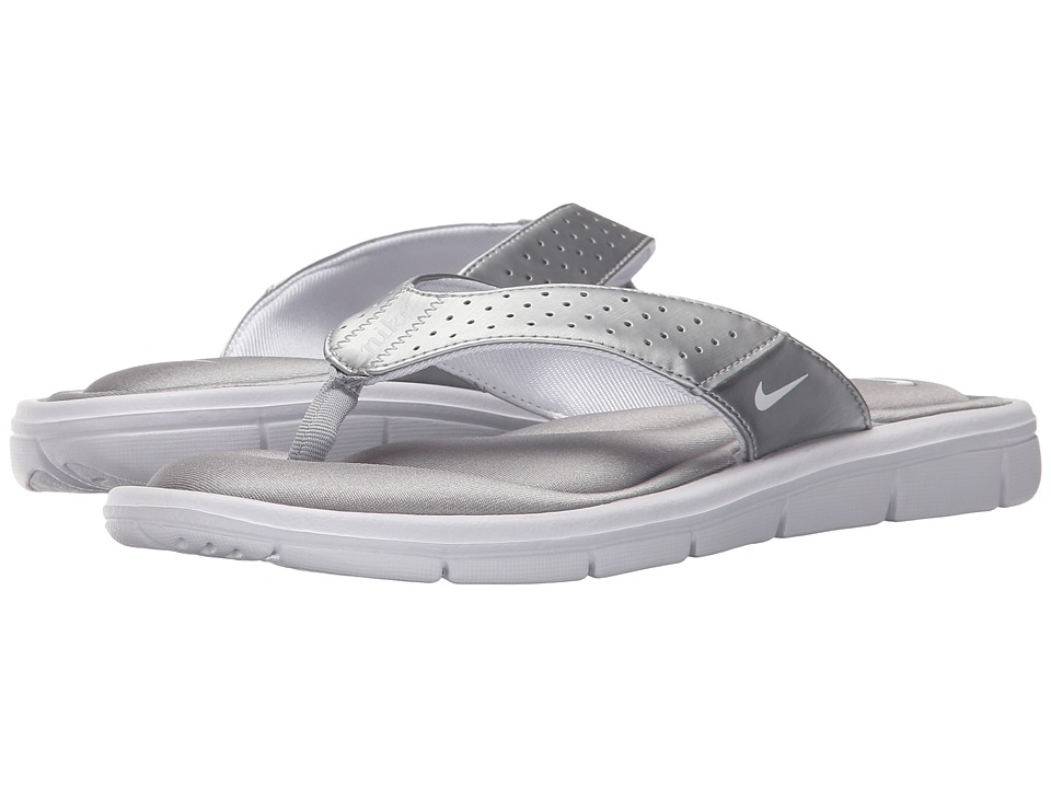 Nike - Comfort Thong (Metallic Silver/White) Women's Sandals
