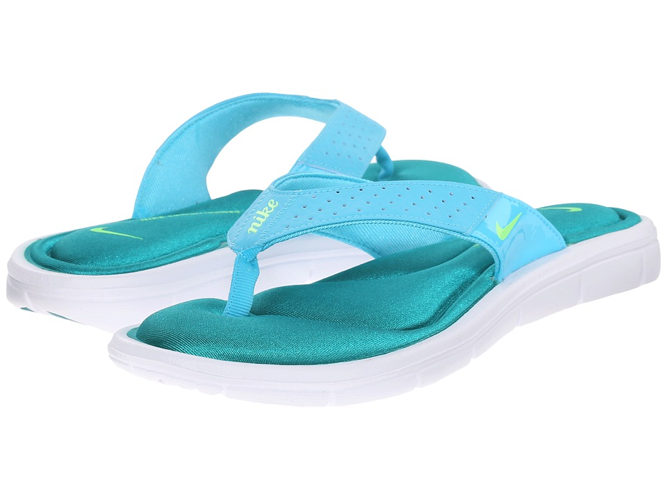 Nike - Comfort Thong (Gamma Blue/Rio Teal/White/Electric Green) Women's Sandals
