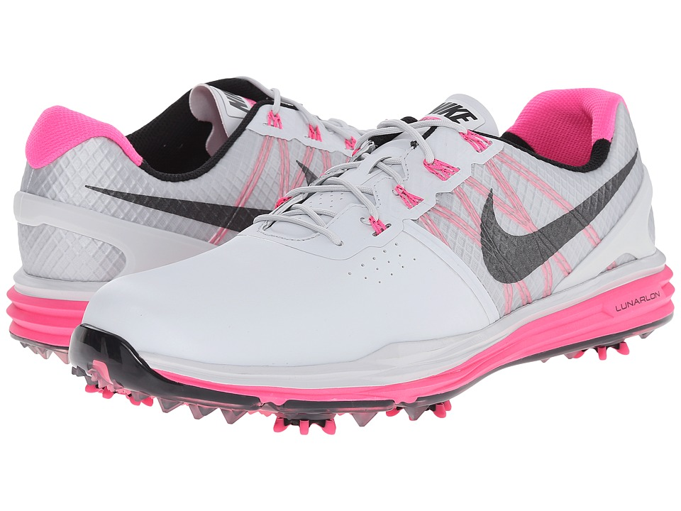 Nike Golf - Lunar Control 3 (Pure Platinum Pink/Pink Pow/Black) Men's Golf Shoes