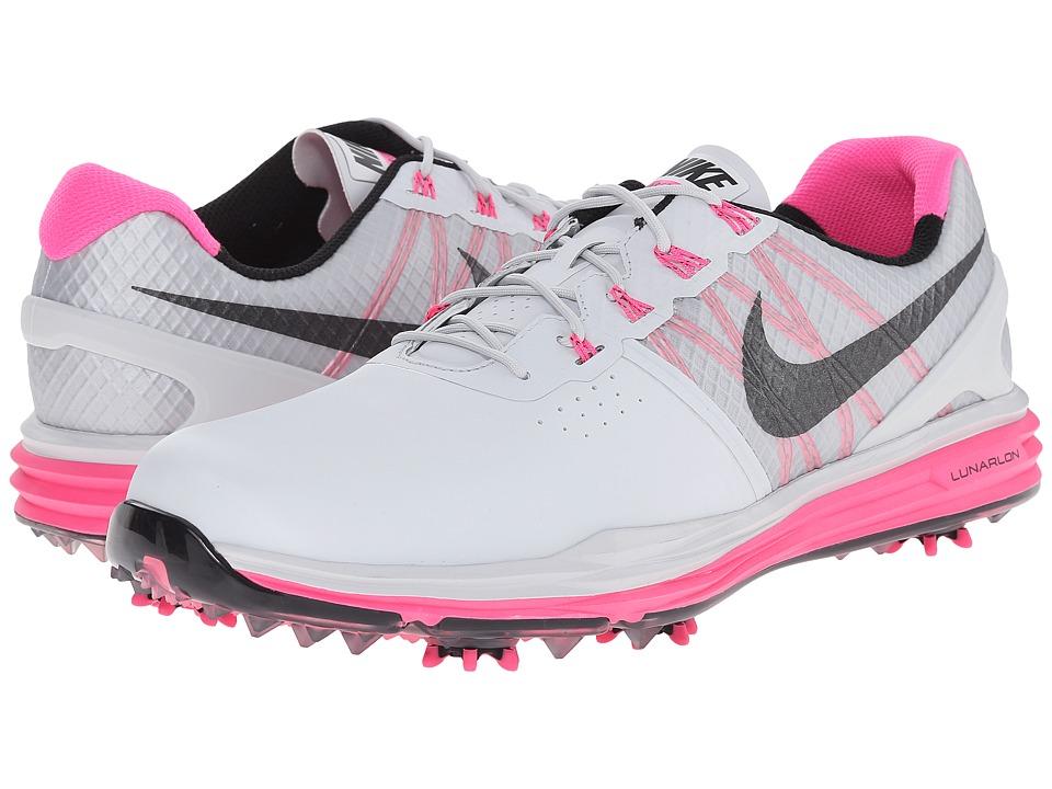 Nike Golf - Lunar Control 3 (Pure Platinum Pink/Pink Pow/Black) Men's Golf Shoes