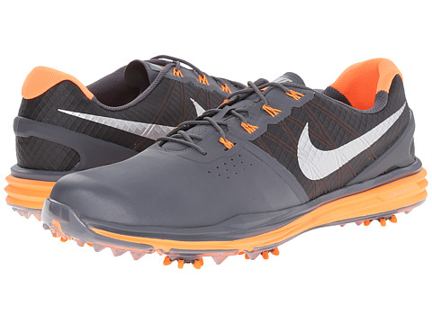 Nike Golf - Lunar Control 3 (Dark Grey/Total Orange/Metallic Silver) Men
