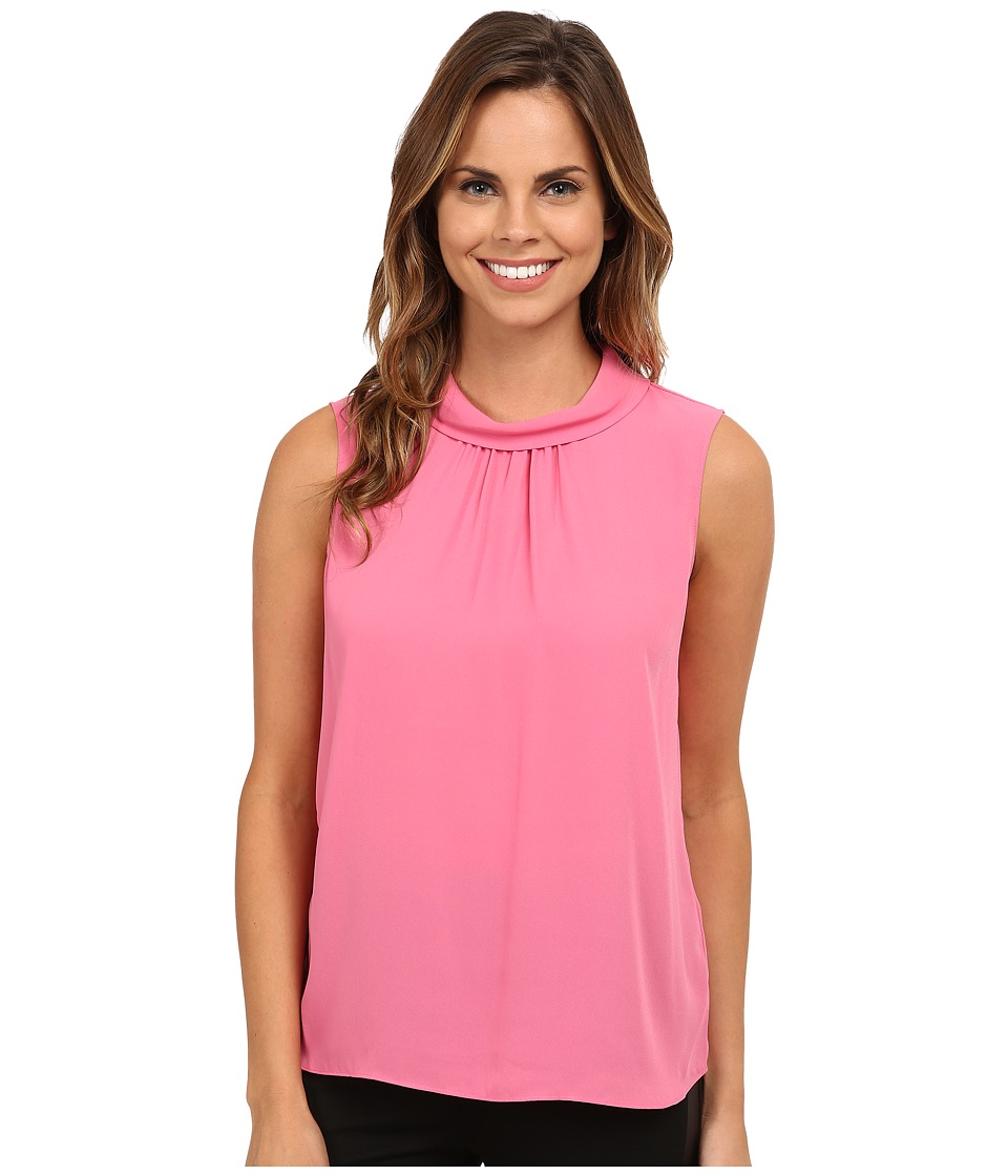 Vince Camuto - Sleeveless Mock Neck Blouse (Blossom) Women