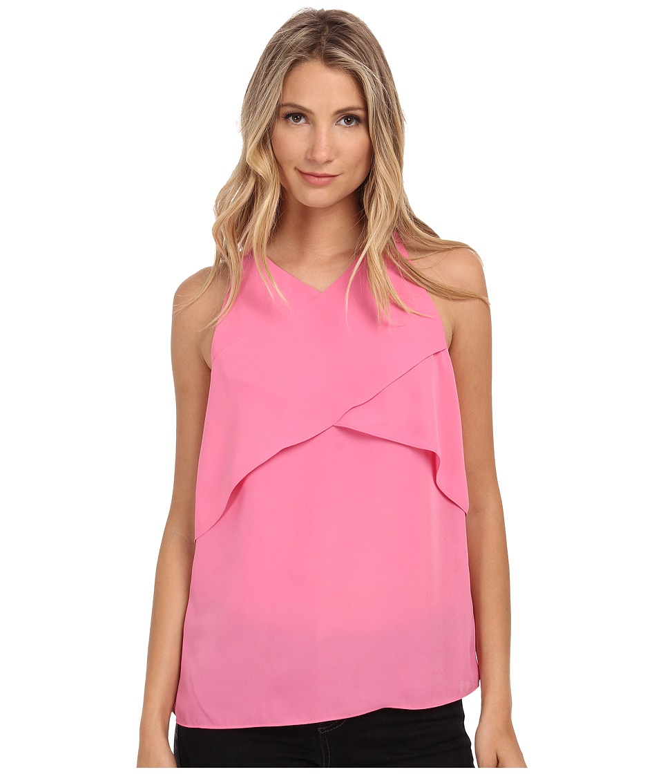Vince Camuto - Sleeveless Crossed Layered Blouse (Blossom) Women's Blouse