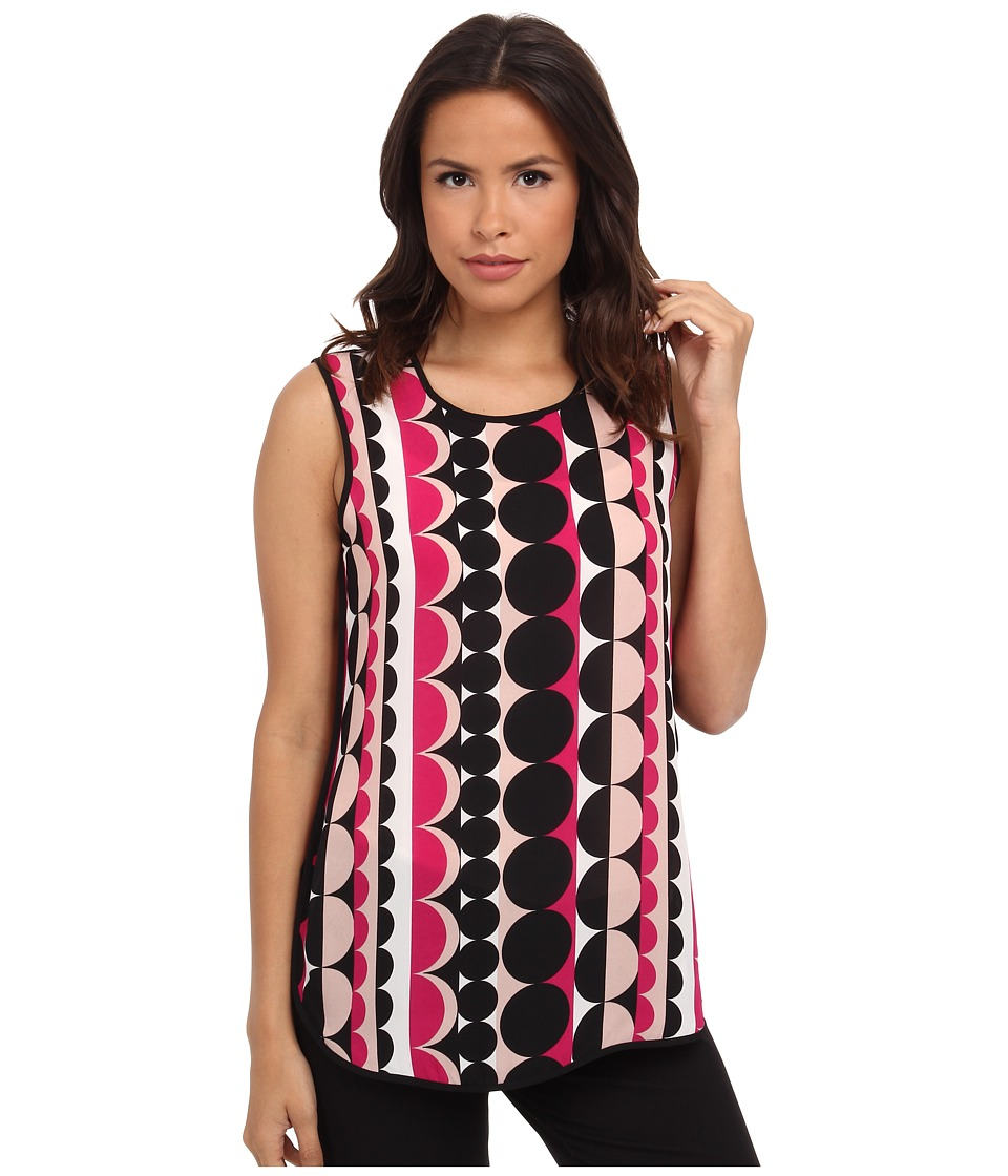 Vince Camuto - Retro Dots Blouse (Ruby Pink) Women's Blouse