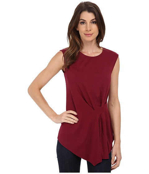 Vince Camuto - Side Ruched Top (Merlot) Women's Sleeveless