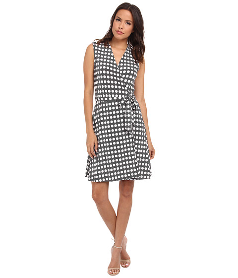 Vince Camuto - Swinging Dots Belted Wrap Dress (New Ivory) Women