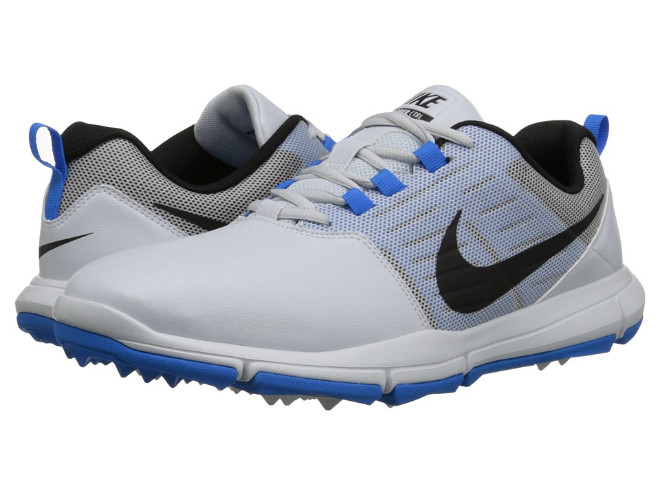 Nike Golf - Explorer SL (Pure Platinum/Photo Blue/Black) Men's Golf Shoes