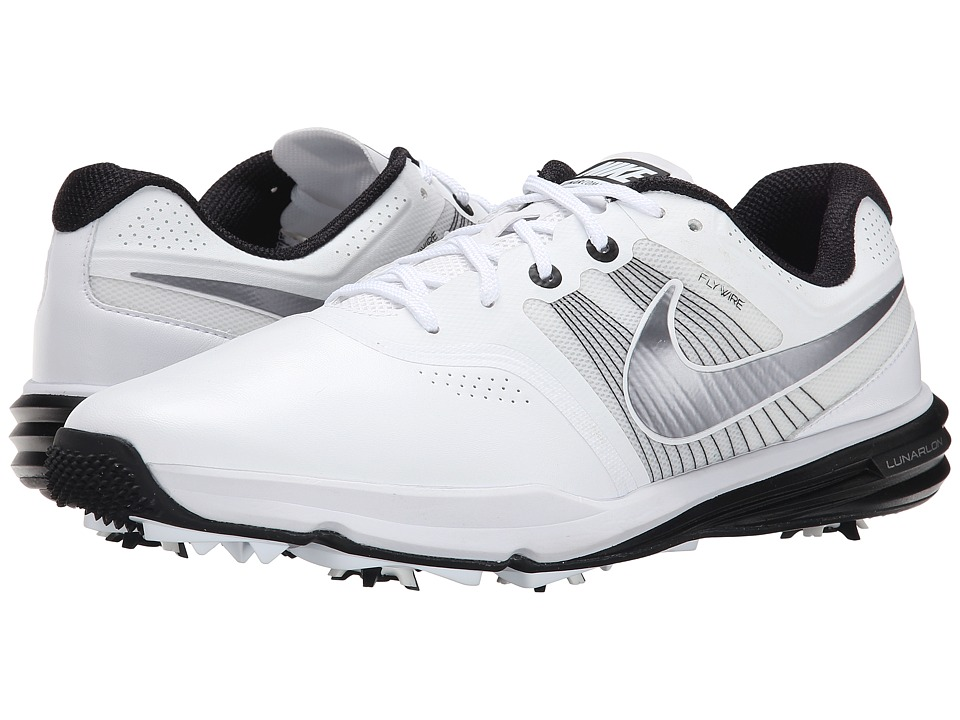 Nike Golf - Lunar Command (White/Black/Metallic Cool Grey) Men's Golf Shoes