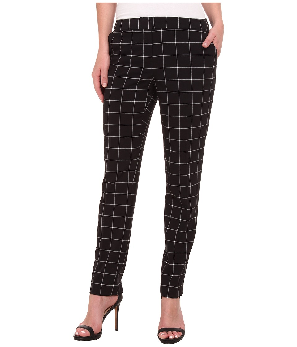 Vince Camuto - Front Zip Windowpane Pants (Rich Black) Women's Casual Pants
