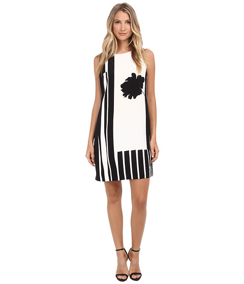 Vince Camuto - Flower Silhouette Shift Dress (New Ivory) Women