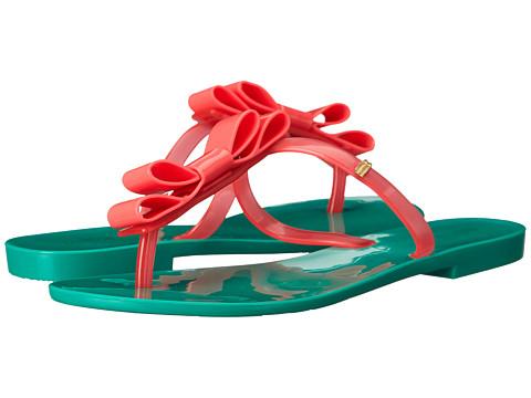 Melissa Shoes - T-Bar (Green) Women's Toe Open Shoes