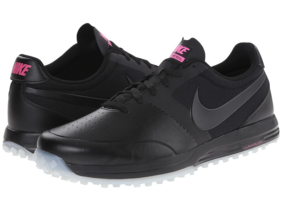 Nike Golf - Lunar Mont Royal (Black/White/Pink Pow/Black) Men's Golf Shoes