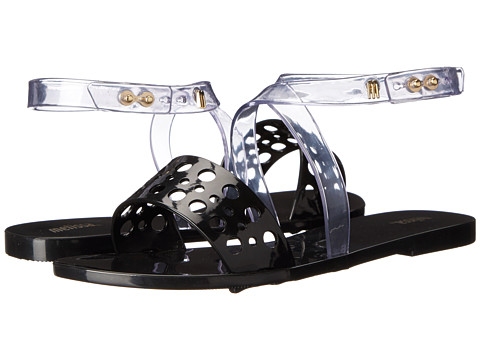 Melissa Shoes - Tasty (Clear/Black) Women's Shoes