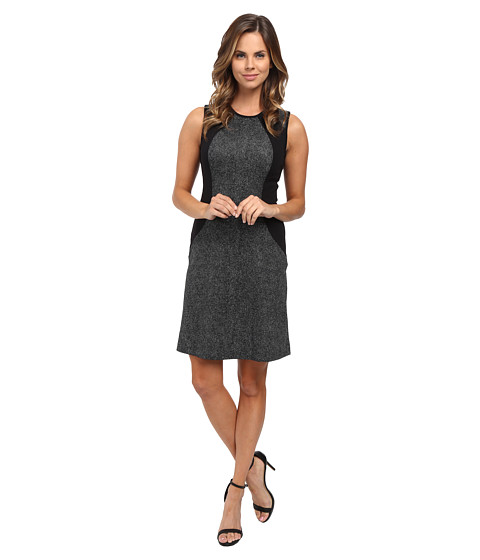MICHAEL Michael Kors - Landdown Sleeveless Panel Dress (Black) Women's Dress