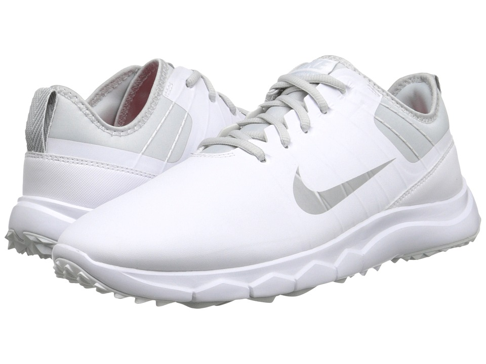 Nike Golf - FI Impact 2 (White/Pure Platinum/Bright Crimson/Metallic Silver) Women's Golf Shoes