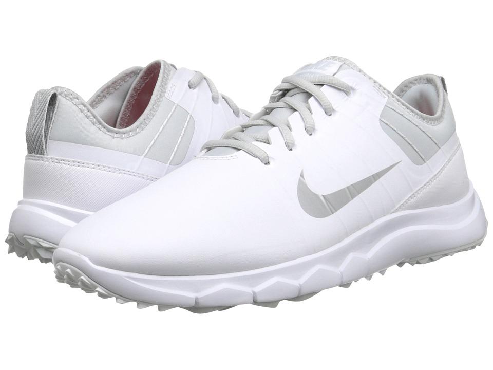 Nike Golf - FI Impact 2 (White/Pure Platinum/Bright Crimson/Metallic Silver) Women's Golf Shoes