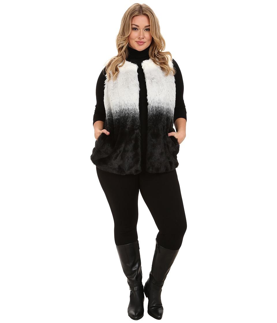 Vince Camuto Plus - Plus Size Ombre Faux Fur Vest (New Ivory) Women