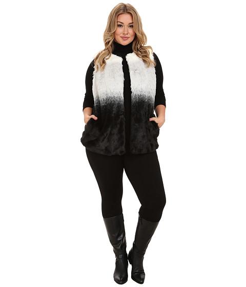 Vince Camuto Plus - Plus Size Ombre Faux Fur Vest (New Ivory) Women's Vest