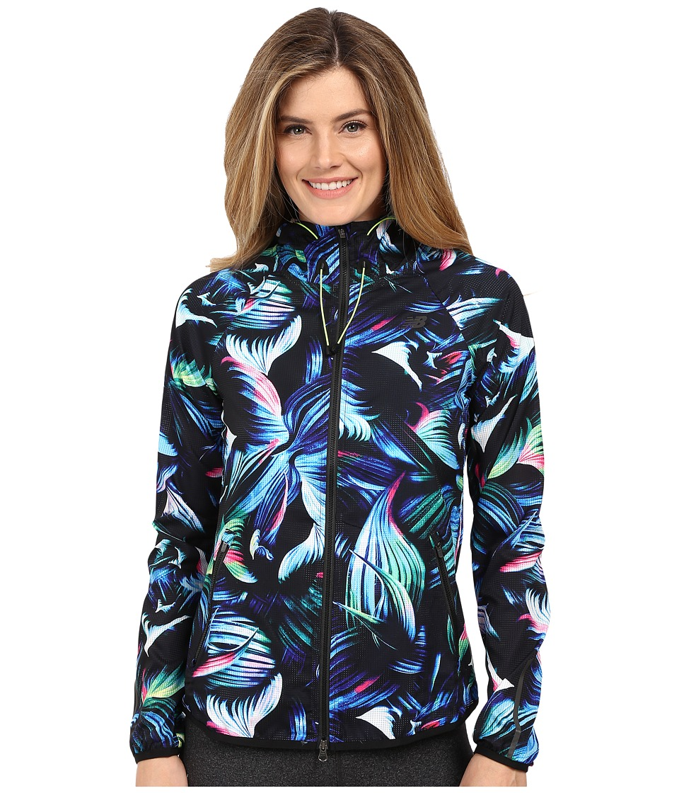 New Balance - Windcheater Hybrid Jacket (Underwater Floral) Women's Coat