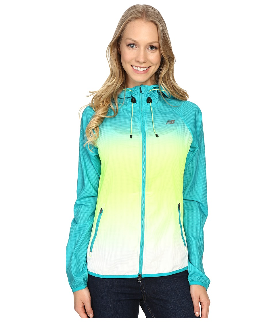 New Balance - Windcheater Hybrid Jacket (Titan Toxic) Women's Coat