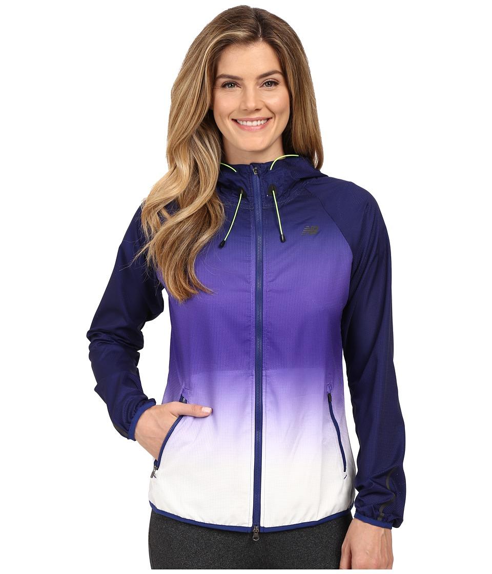 New Balance - Windcheater Hybrid Jacket (Toxic/Galapagos) Women's Coat