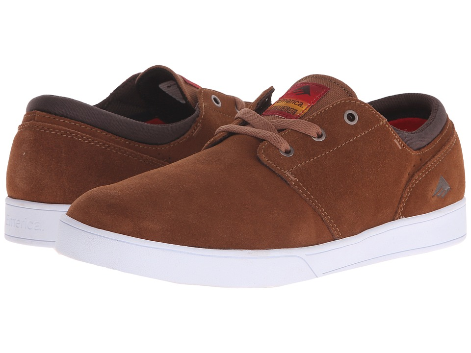 Emerica - The Figueroa (Brown/White) Men's Skate Shoes
