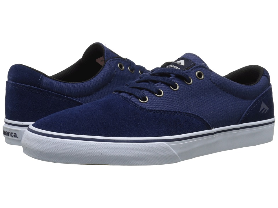 Emerica - The Provost Slim Vulc (Navy/White) Men's Skate Shoes