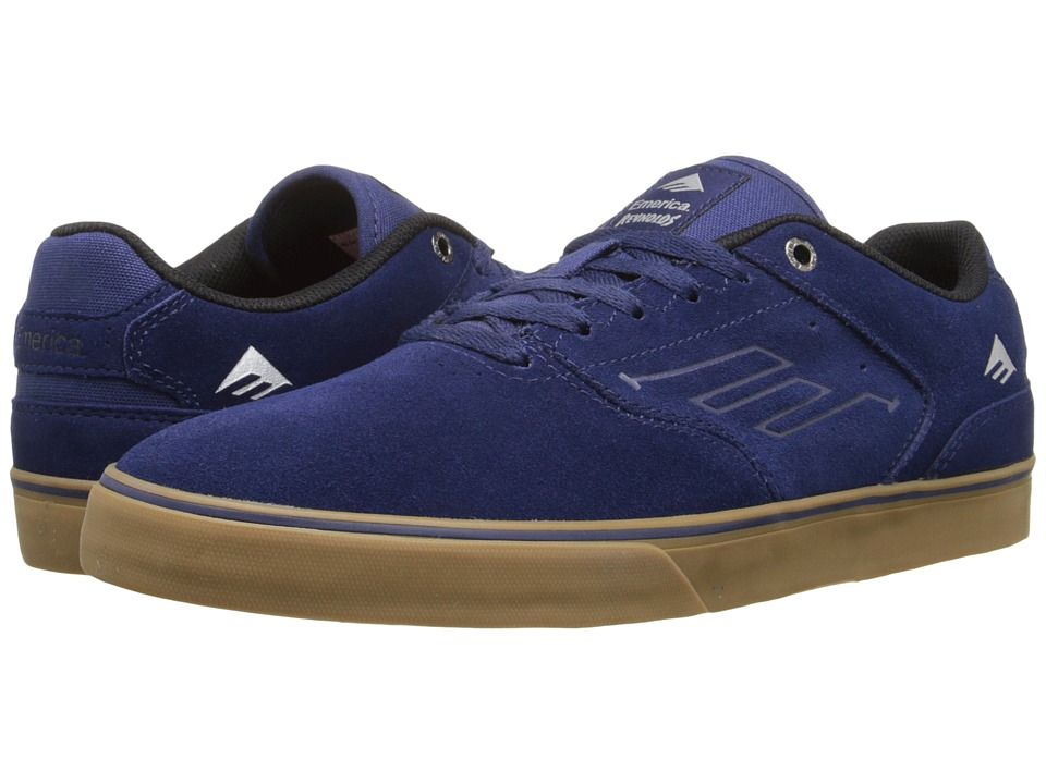 Emerica - The Reynolds Low Vulc (Navy/Grey/Gum) Men's Skate Shoes
