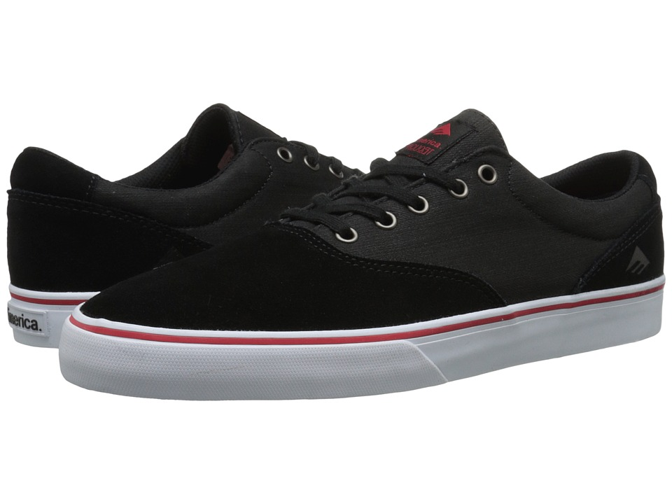 Emerica - The Provost Slim Vulc (Black Denim) Men's Skate Shoes