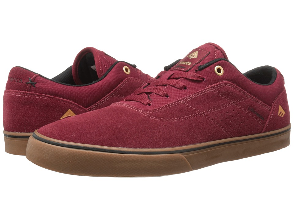 Emerica - The Herman G6 Vulc (Burgundy/Gum) Men's Skate Shoes