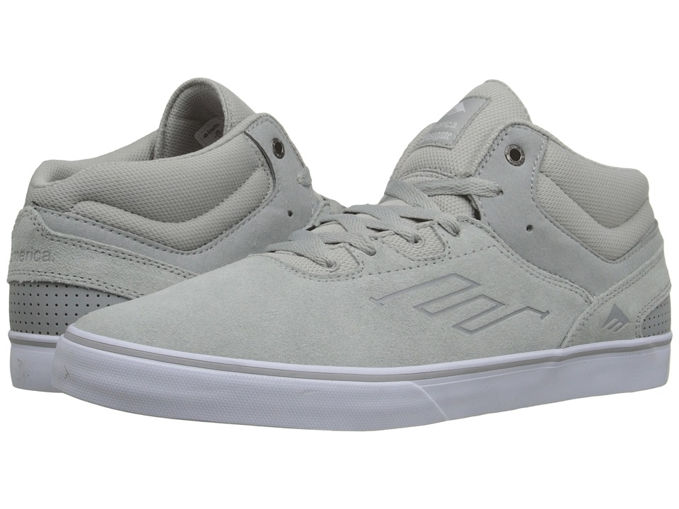Emerica - The Westgate Mid Vulc (Grey/White) Men's Skate Shoes