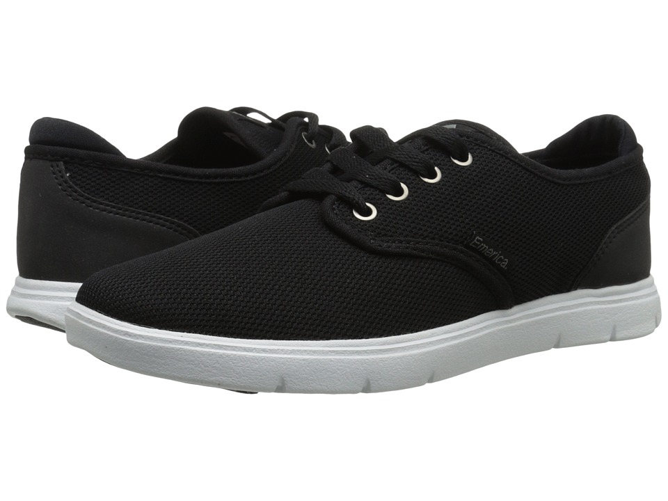 Emerica - Wino Cruiser LT (Black/White/Black) Men's Skate Shoes