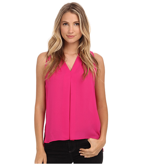 Vince Camuto - Blouse w/ Inverted Front Pleat (Ruby Pink) Women's Blouse