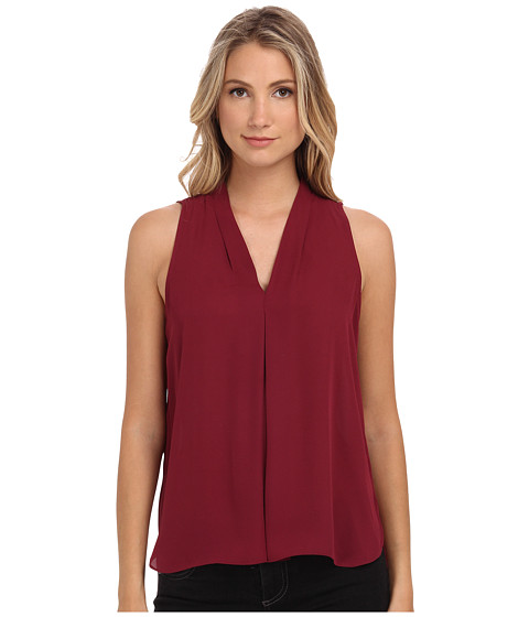Vince Camuto - Blouse w/ Inverted Front Pleat (Merlot) Women
