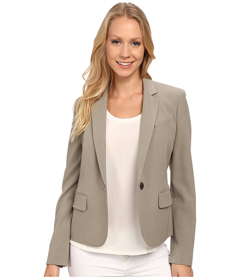 Anne Klein - One Button Peak Lapel Jacket (Sage) Women's Coat
