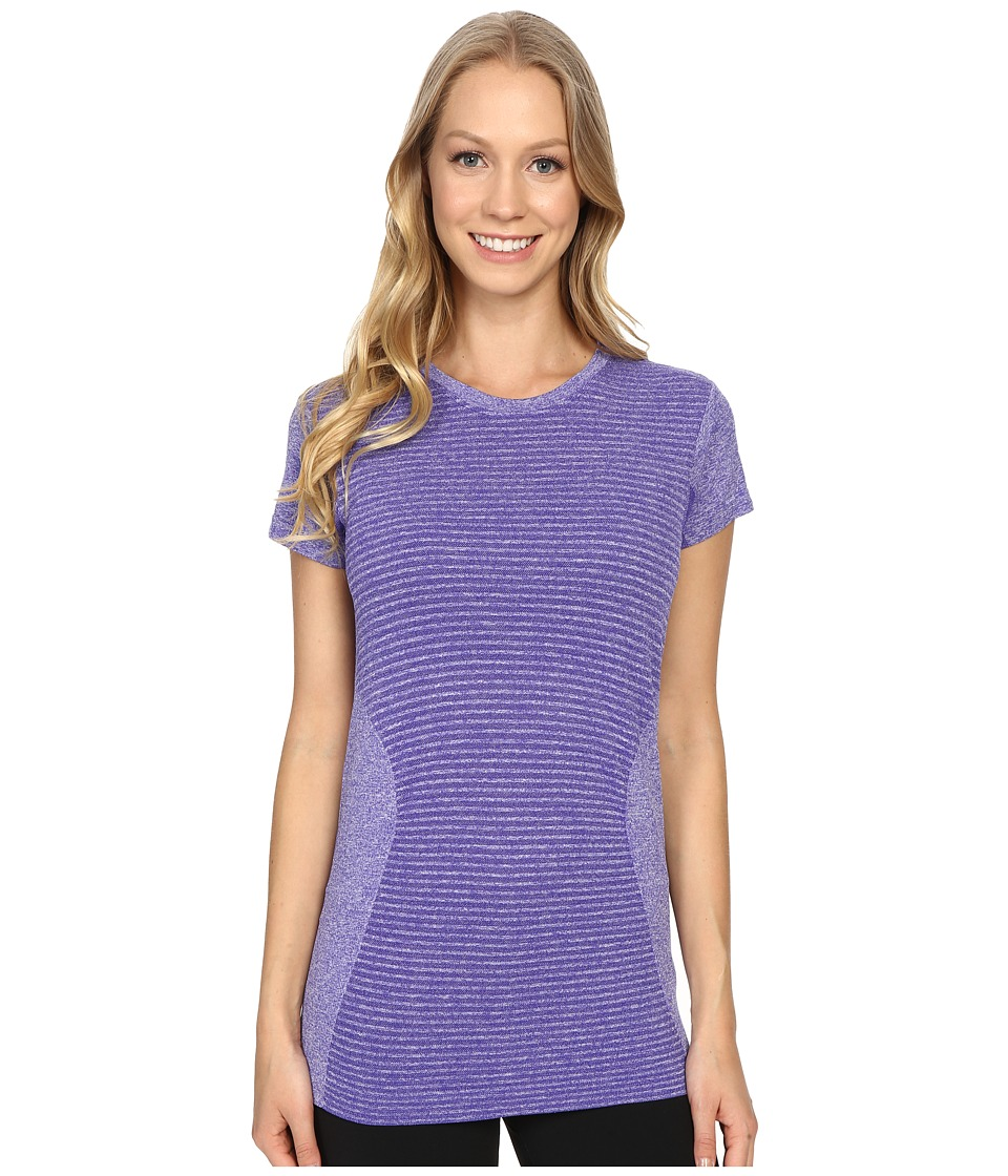 New Balance - M4M Seamless Short Sleeve Top (Titan Heather) Women's Short Sleeve Pullover