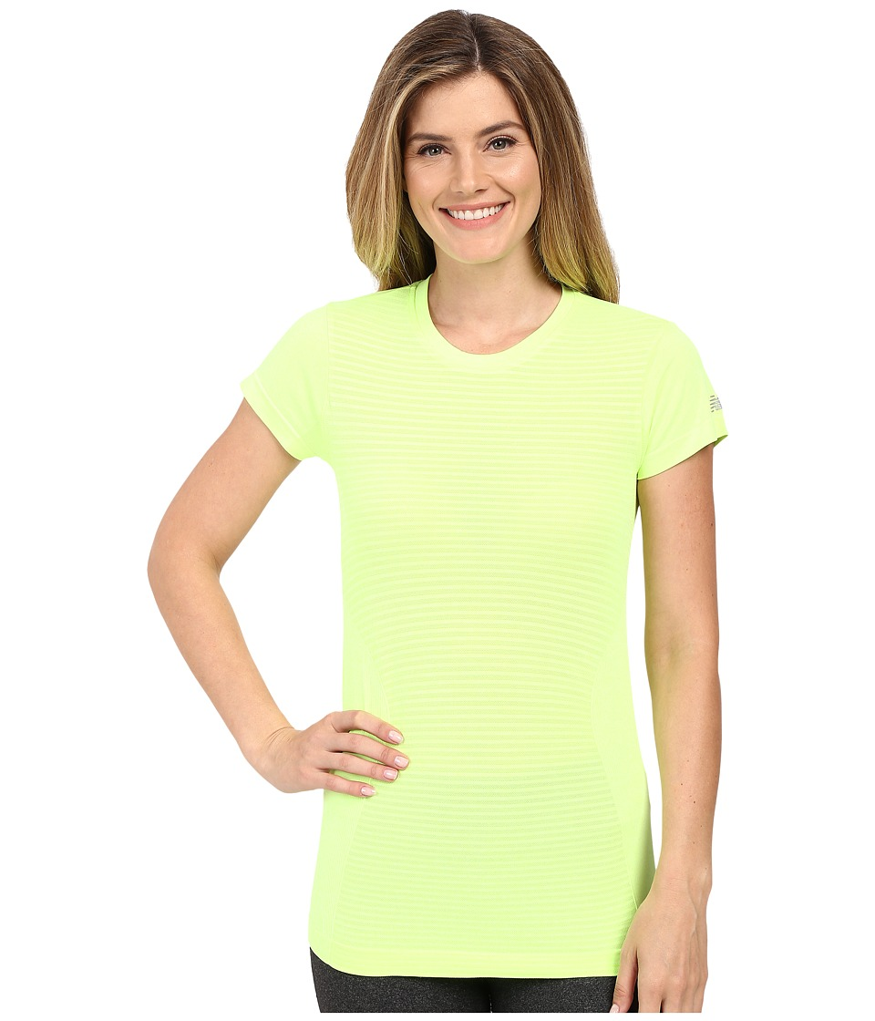 New Balance - M4M Seamless Short Sleeve Top (Toxic Heather) Women's Short Sleeve Pullover