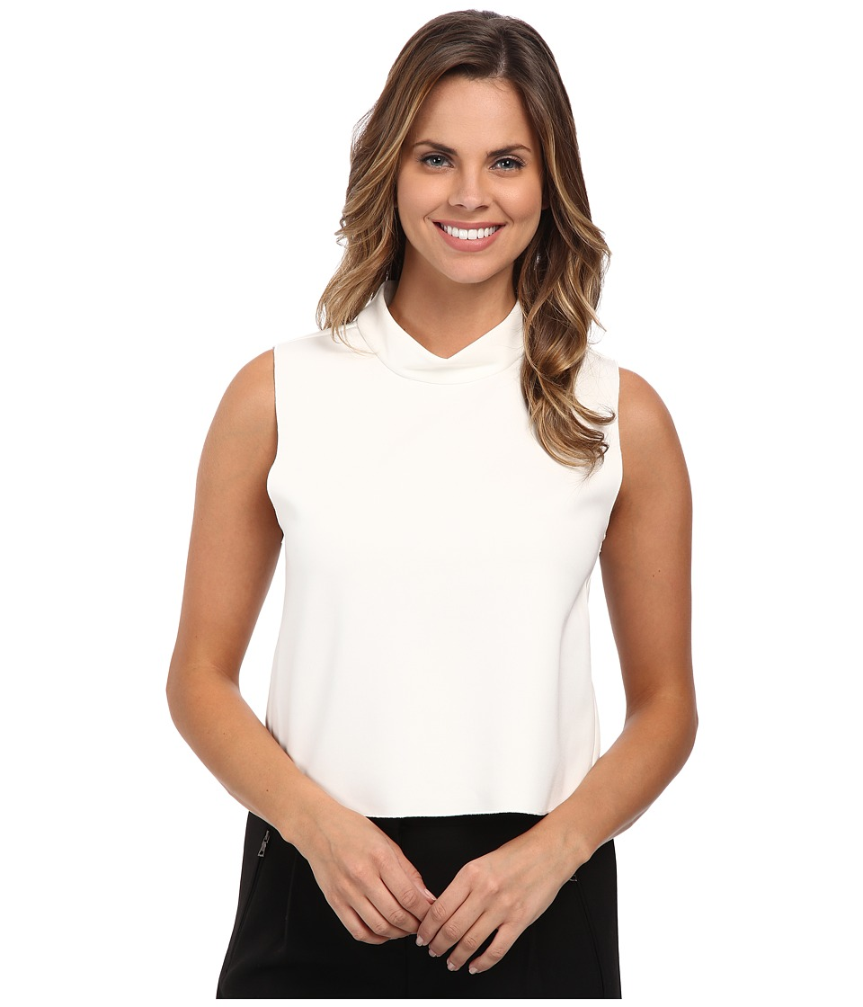Vince Camuto - Mock Neck Shell Top (New Ivory) Women