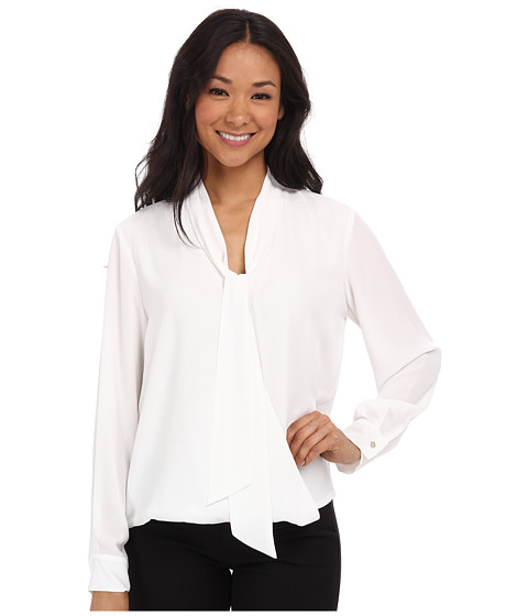 Vince Camuto - Tie Neck Wrap Blouse (New Ivory) Women's Blouse