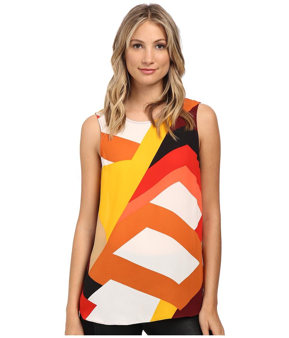 Vince Camuto - Color Blocks Blouse (Pepper) Women's Blouse
