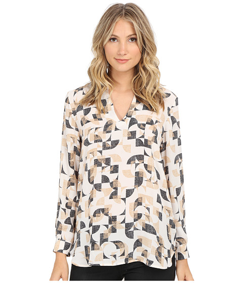 Vince Camuto - Graphic Signature Back Seam Tunic (Antique White) Women's Clothing