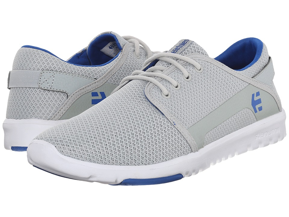 etnies - Scout (Grey/White/Royal) Men's Skate Shoes